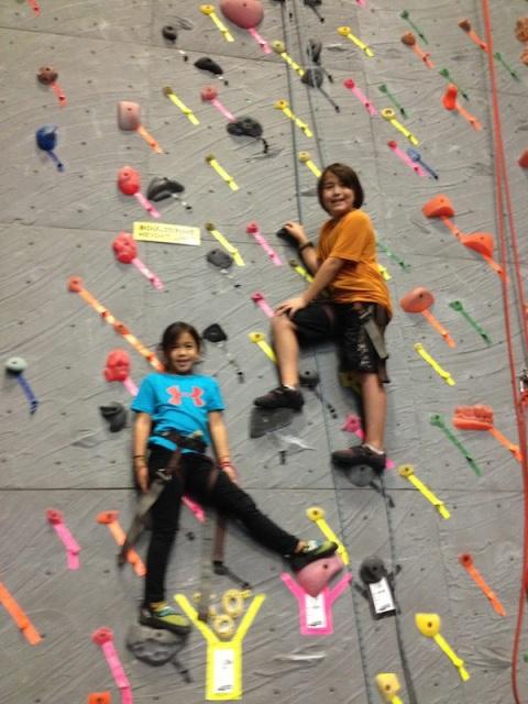 Climbing kids