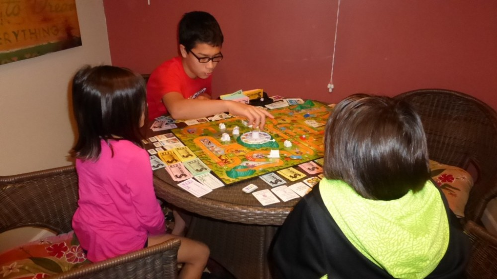 Playing the game of LIFE - we were all millionaire's by the end!