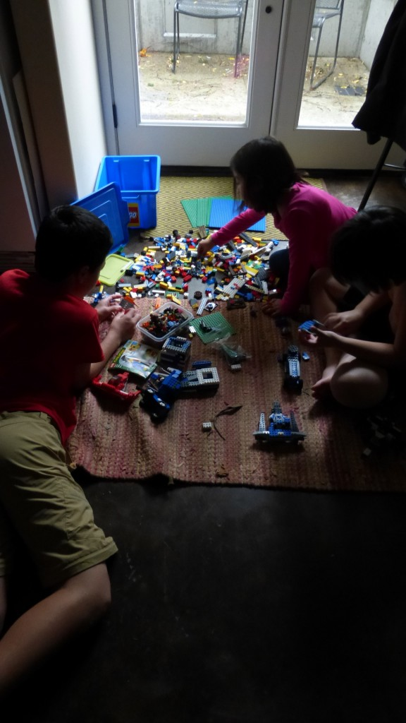 LEGOS by the Lit Window