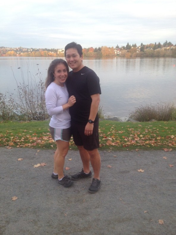 We sent the kids around the lake in the opposite direction on their roller blades while we enjoyed a fun 3 mile run around Green Lake