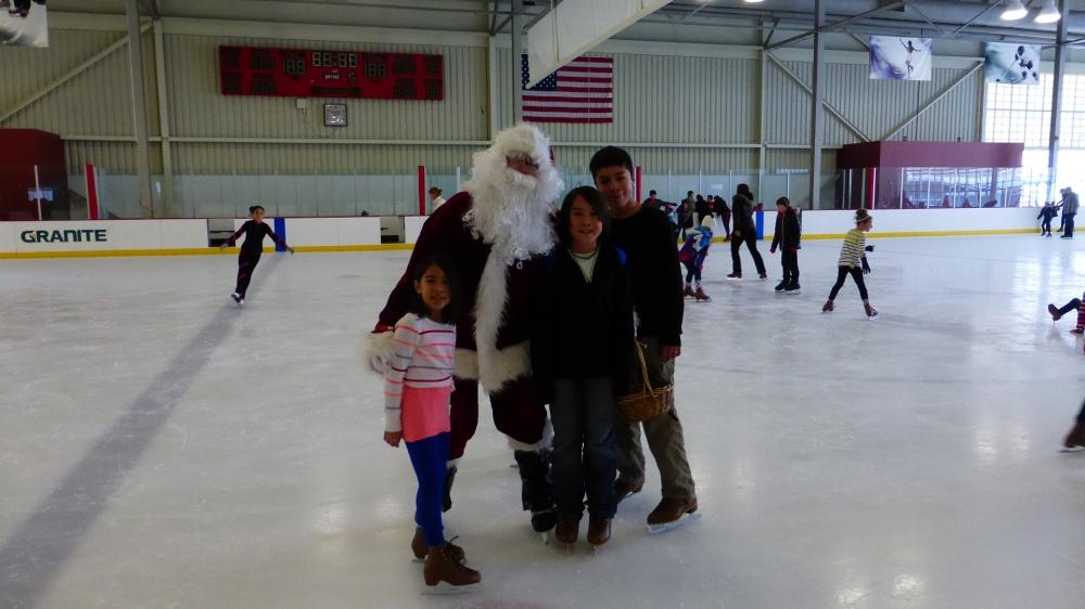 Ice Skating with Santa