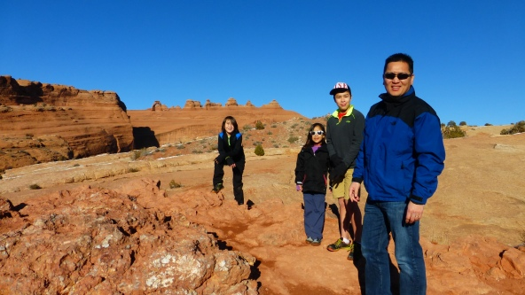 Can you see the Delicate Arch in the background?