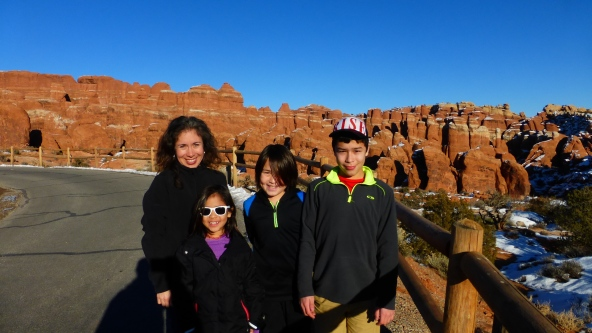 Fiery Furnace View - will come back in summer for guided tour